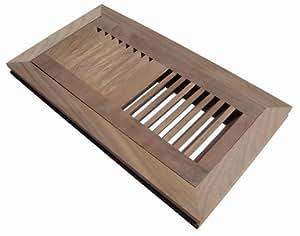 Welland hardwood flush mount floor register vent for Wood floor register 8 x 10