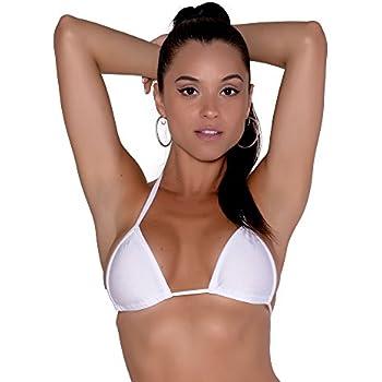 db03d21fe2 Amazon.com: Sassy Assy Mini Curtain Triangle Bikini Top: Clothing