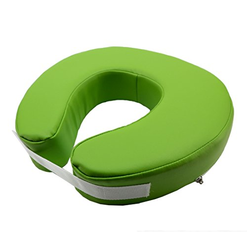Medirex Massage Fitted Crescent Face Pillow Massage Face Cradle Cushion Green by Medirex