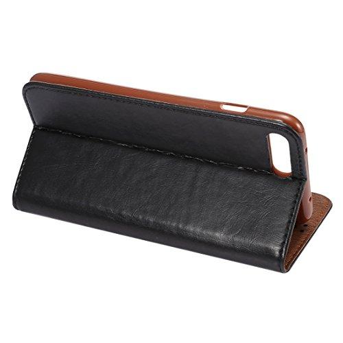 Hülle für iPhone 7 ,Schutzhülle Für iPhone 7 Crazy Horse Texture Auto Geschlossen Horizontale Flip Leder Tasche mit Halter & Card Slots & Wallet ,cover für apple iPhone 7,case for iphone 7 ( Color : B
