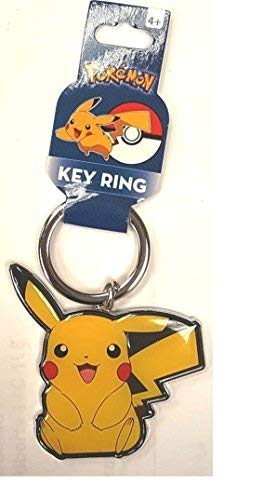 Pokemon Pikachu Metal Key Ring Keychain, Yellow