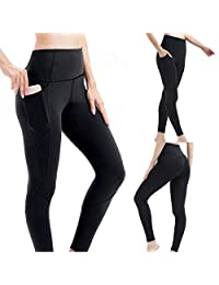 Elever Women Fashion High Elastic Waist Solid Pocket Fitness Yoga Leggings Tracksuits