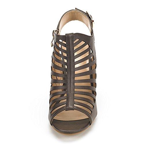 Dream Mid Heel Chunky Mumbai Pu Pairs Sandals Pump Women's Brown UwqrvUT