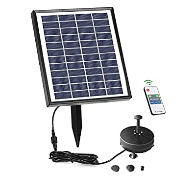 Lewisia Battery Solar Fountain Pump with LED Lighting for Pool Koi Pond Garden Bird Bath Submersible Solar Water Pump Kit