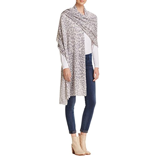 Private Label Womens Cashmere Animal Print Wrap Gray O/S by Private Label