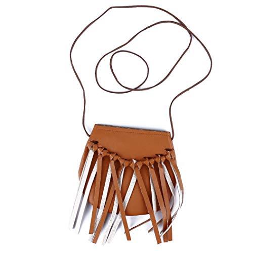 LZIYAN Cute Tassel Shoulder Bag Fringe Messenger Cell Phone Bag Fashion Crossbody Saddle Bag Purse for Children Little Girls