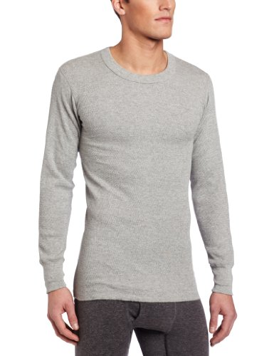 Rock Face Men's Tall 7 oz Lightweight Knit Thermal Shirt, Gray, (Gray Thermal Long Sleeve Shirt)