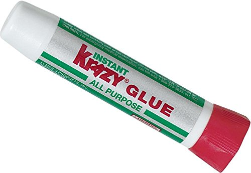 Krazy Glue KG58548R All-Purpose 0.07 Oz Super Glue Tube; Great for Everyday Household Repairs; Forms an Extra-Strong Bond on Wood, Rubber, Glass, Metal, Plastic and Ceramic ()