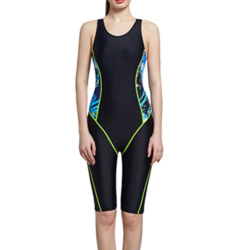 Zhhlinyuan Adult Elasticity Tight Swimsuit Charming Womens Waterproof Swimwear Black
