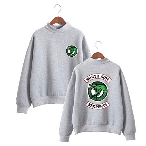 con Felpe Logo Collo Grigio Girocollo Figata Vintage Leslady Alto Sportive Maglione Unisex Riverdale Felpe qPOwWIv8