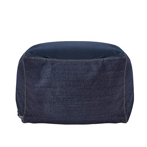 LYQZ Comfortable Bean Bag Lazy Sofa Single Fabric Sofa Variety Style Tatami Bedroom Living Room Balcony Leisure Rocking Chair Large Size 60×128cm (Color : Denim Black)