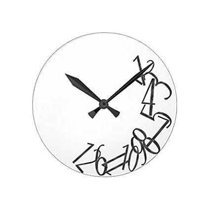 Amazon Com Rustic Wall Clock For Living Room Decor Fallen Numbers