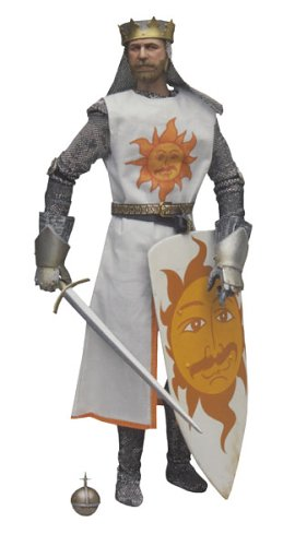 GRAHAM CHAPMAN AS KING ARTHUR * The Dirty Knights Collection (Muddy Version) * 12 Inch Monty Python and the Holy Grail 2002 Sideshow Toy Collectible Action Figure