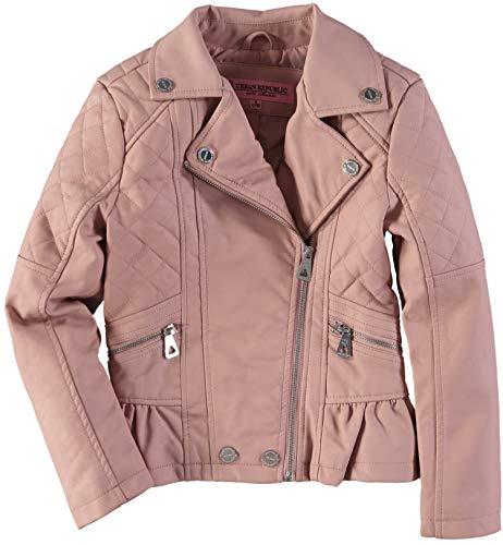 (Urban Republic Peplum Faux Leather Moto Jacket (Rose Smoke, 10-12))