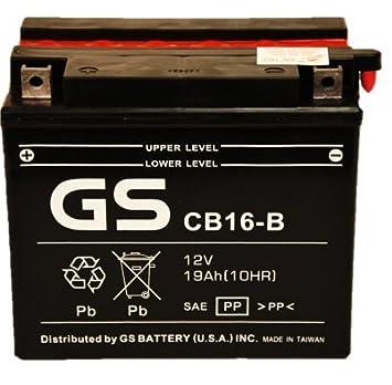 Amazon.com: GS batería – GS cb16b con paquete de ácido ...