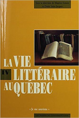 Livre gratuits La vie littéraire au Québec pdf, epub ebook