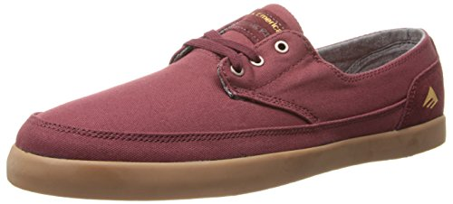 Emerica Mens Troubadour Low Skateboarding Shoe Burgundy/Gum NDjOl75ay