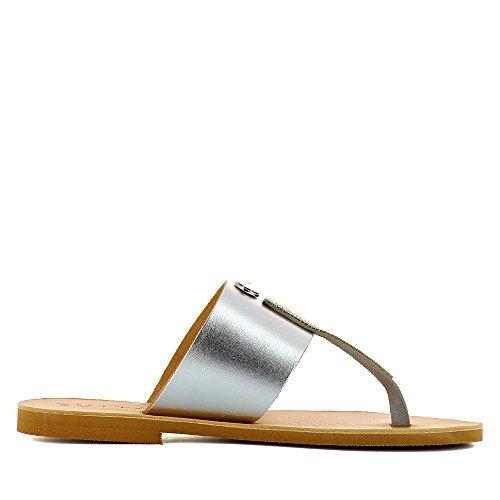 Evita Shoes Greta - Sandalias de vestir de Piel para mujer plata