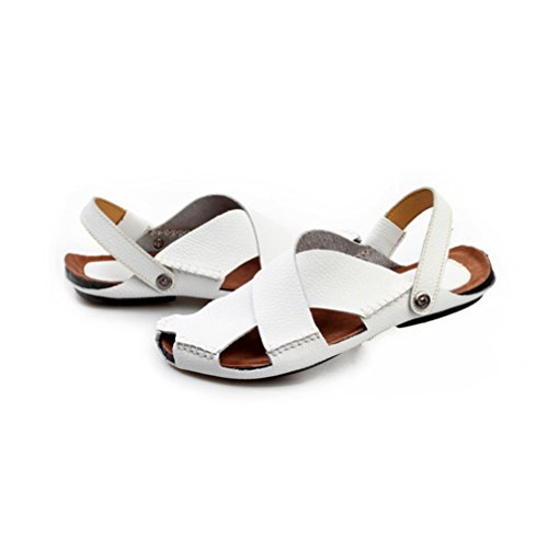 Closed Wear JULY Dual Fisherman Toe Mens T Non Athletic Back Sandal Strap White Use Beach Slip Loafers qFxBZSCw