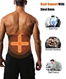 GainKee Latex Men Waist Trainer Corsets With Steel