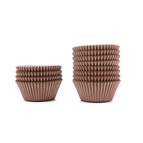 Buorsa Chocolate Brown Paper Cupcake Baking Cups Liners,300 Count - --Standard Size