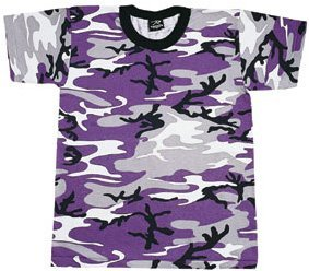 - 60176 Camouflage T-Shirt, Ultra Violet Camo, XL
