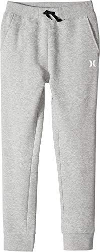 Hurley Boys' Little Fleece Jogger Pants, Dark Grey Sweater Knit S