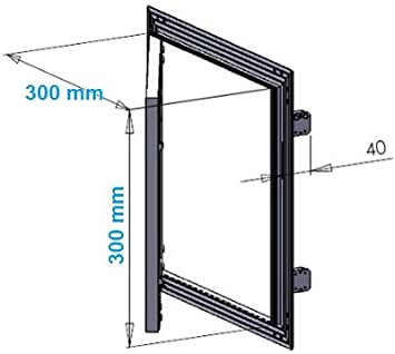 MKK-SHOP KRAL10 - Tapa (300 x 300 mm, pladur, 12,5 mm, marco de ...