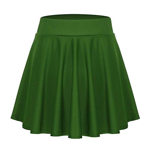 Acevog Jupe Smaragdgrün Femme Acevog Jupe RwpEqxrIR