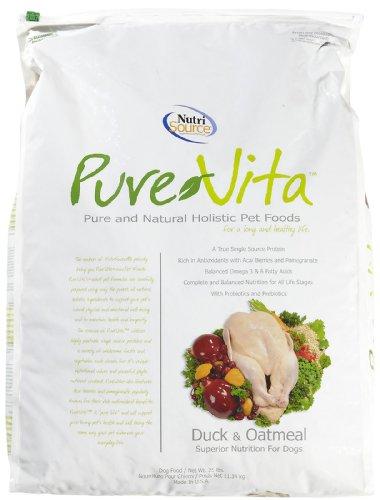PureVita Duck and Oatmeal Dry Dog Food - 25lb bag