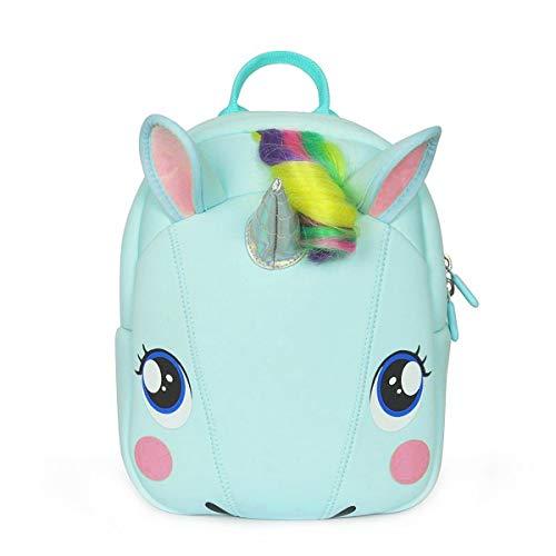 Sylfairy Unicorn Backpack Kids Cartoon 3D Animal Backpack Cute Unicorn Shoulder Bag for Kindergarten Toddlers Girls Boys Travel Holiday Gifts(Green)