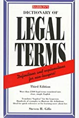 Dictionary of Legal terms Paperback