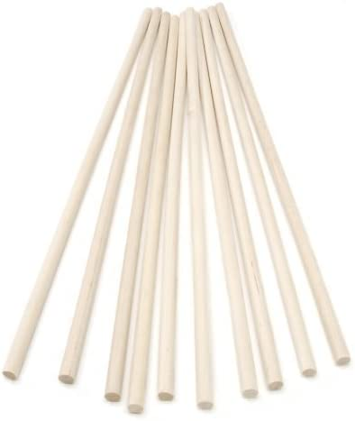 30cm long BrilliantBuys 10 x Wooden Dowels Craft Sticks 10mm thick