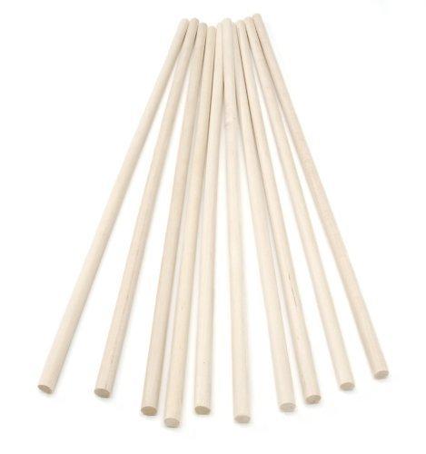 30cm Wooden Craft Sticks - Hardwood Dowels Poles 12mm diameter by burbridge