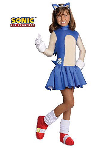 Sonic The Hedgehog Girls Costume, Small -