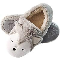 Fox Cute Animal Slippers Low | Womens Fuzzy Warm Slippers | Soft Fleece Plush Home Slippers | Anti-Slip Slippers