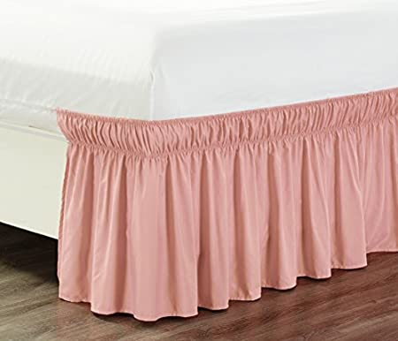 Pink Elastic Hanging Cloth Bed Skirt 71X132Cm Bed Skirt Nursery Bed Skirt 28X52Inch