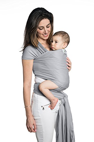 Posh Bean Sling Wrap Carrier – Breathable All Natural Cotton Baby Wrap, Lightweight Secure Durable Baby Sling, Eco Friendly Babywearing, Calm a Fussy Baby