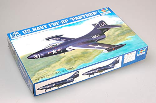 Trumpeter 1/48 F9F2P Panther US Navy Fighter Model Kit