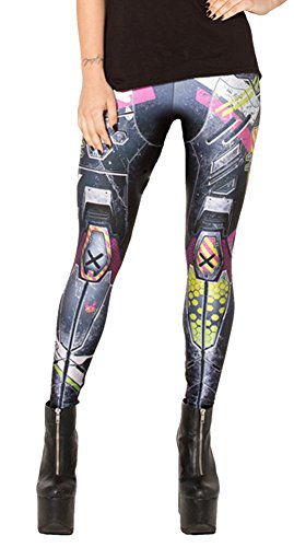 QZUnique Women's Armor Warriors Print Shaping Breathable Tights Leggings]()