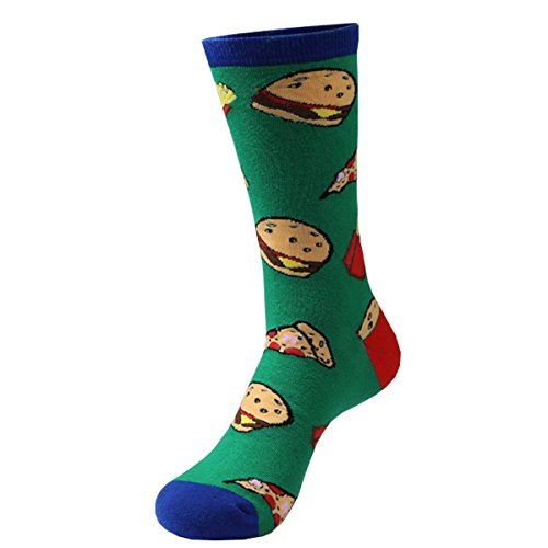Zmart Mens Crazy Funny Cute Novelty Cotton Food Crew Socks