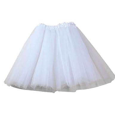 VJGOAL Moda Casual de Verano de Color sólido Falda elástica de Tul ...