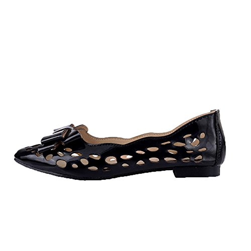 Nero Tacco Donna Flats Ballet Basso Tirare FBUIDD006778 Solid AllhqFashion Rwq8U6wP
