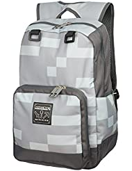 JINX Minecraft Miner Kids Backpack (Grey, 18) for School, Camping & Fun