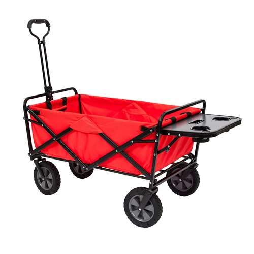 (Mac Sports Folding Garden Utility Wagon w/Table, Red)