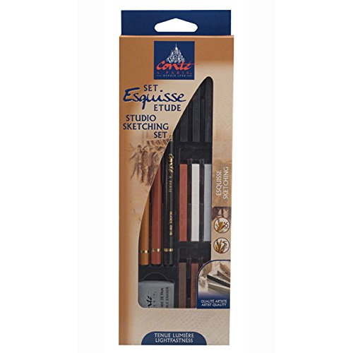 Conté à Paris Sketching and Drawing Pencils Studio Sketch Set - Conte Drawing