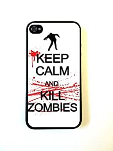 iPhone 4 Case - Hard Capsule Case iPhone 4/4s Case - Keep Calm kill Zombies