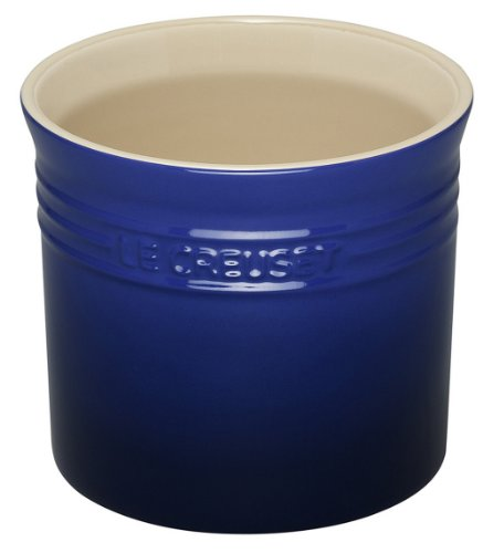 Le Creuset Stoneware Large 2-3/4-Quart Utensil Crock, Blue (Utensil Crock Large Stoneware)