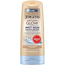 Jergens Natural Glow Wet Skin Moisturizer for Body, Fair to Medium Skin Tones, 7.5 Ounces