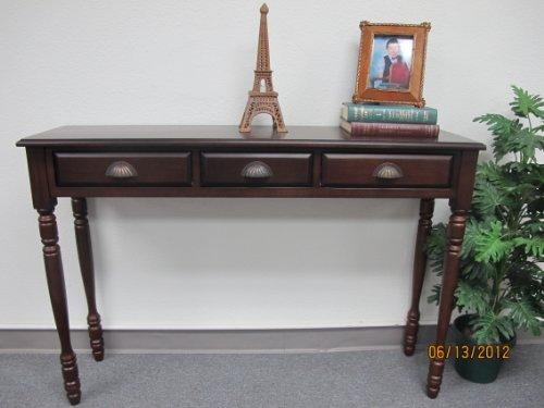 D-ART COLLECTION Mahogany Savanna Hall Table with 3 - Mahogany Table Asian